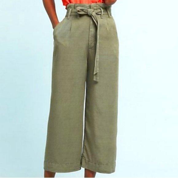 Anthropologie Blythe Wide-Leg Pants Green Size 0